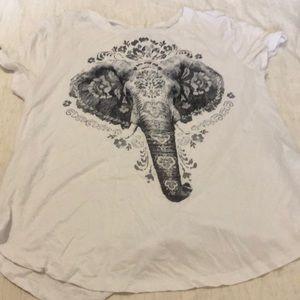 Elephant print soft tee